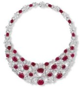 An Important Ruby and Diamond Flora Necklace, by Bulgari