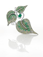 Important Emerald, Diamond and Gem-set Leaf Brooch, by JAR