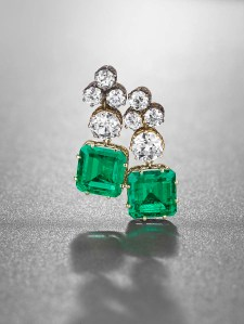 An Important Pair of Emerald and Diamond Earrings
